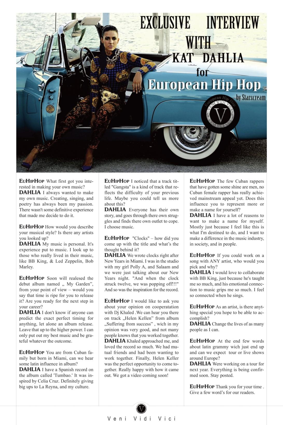 European Hip Hop Kat Dahlia