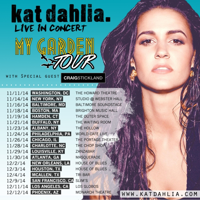 Kat Dahlia Winter Tour 2014